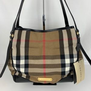 New Burberry Bridle House Check Canterbury Tote